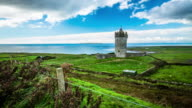 Time Lapse of Landscape in Ireland, Doonagore Castle video