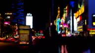 Time lapse of Las vegas around strip road at night video
