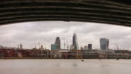 Time lapse of London skyline video
