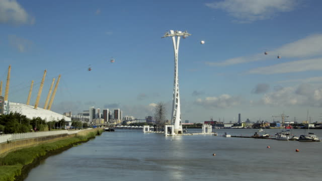 Time Lapse of London's River Thames with Cable Car video