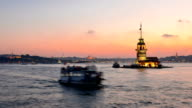 Time lapse of Maiden's Tower, Istanbul video