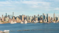 Time lapse of Midtown New York City skyline video