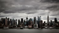 Time lapse of midtown NYC skyline video