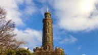 Time lapse of monument at Colton Hill Edinburgh video