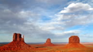 time lapse of Monument Valley at sunset video