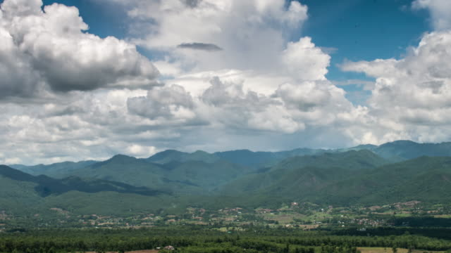 Time Lapse of Mountain landscape in Pai Thailand with rain forest and moving cloudy video