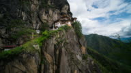 Time Lapse of moving cloud at Tiger Nest Temple, Bhutan video