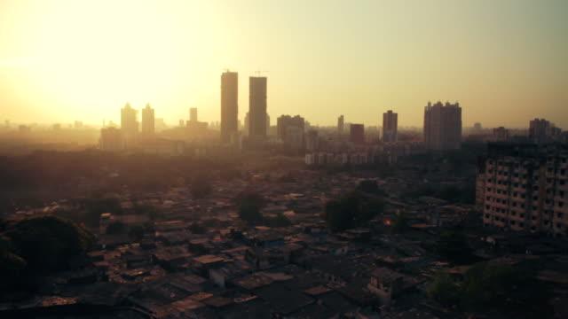 Time lapse of Mumbai city skyline at sunset. video