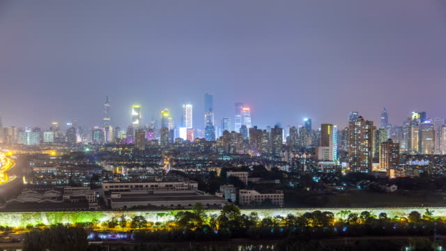 A Time lapse of nanjing city at night,china video