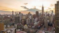 Time lapse of New York skyline video