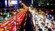 Time lapse of Night scene traffic in Bangkok video