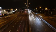 Time Lapse of Night Traffic, North Circular, London video