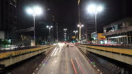 Time Lapse of Night Traffic on Paulista Avenue in Sao Paulo, Brazil video