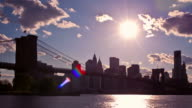 Time lapse of NYC skyline at sunset video