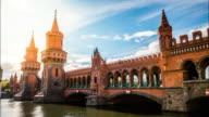 Time Lapse of Oberbaum Bridge in Berlin video