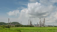 Time Lapse of Oil Refinery video