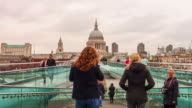 Time lapse of people crossing Millennium Footbridge video