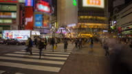 Time lapse of people crossing Shibuya junction video
