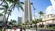 Time lapse of people walking around Waikiki beach video