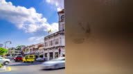 Time lapse of Phuket Clock tower buildings,Dolly Shot video