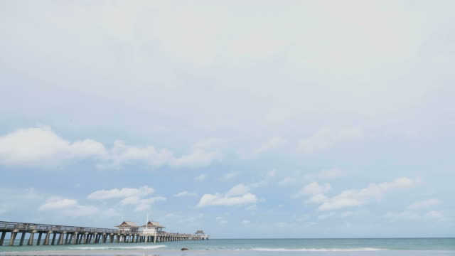Time Lapse of Pier and Cloudy Sky video
