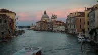 D2N Time Lapse of river traffic at Grand Canal, Venice video