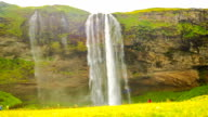 Time lapse of Seljalandsfoss in south Iceland video
