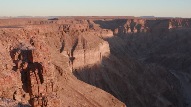 4K time lapse of shadow moving up the walls of Fish River Canyon video