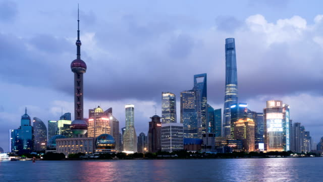 Time Lapse of Shanghai from day to night video