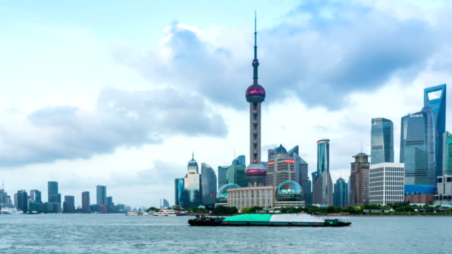 Time lapse of Shanghai Pudong viewed,circa AUGUST 2016 in Shanghai, China. video
