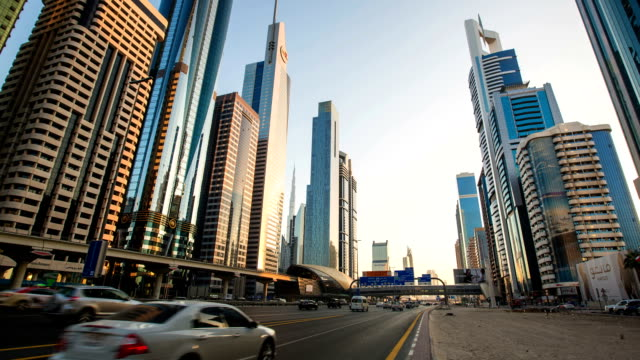 Time lapse of Sheikh Zayed Road at Dubai video
