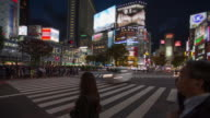 Time lapse of Shibuya crossing video