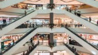 Time Lapse of Shopping Mall Escalator video