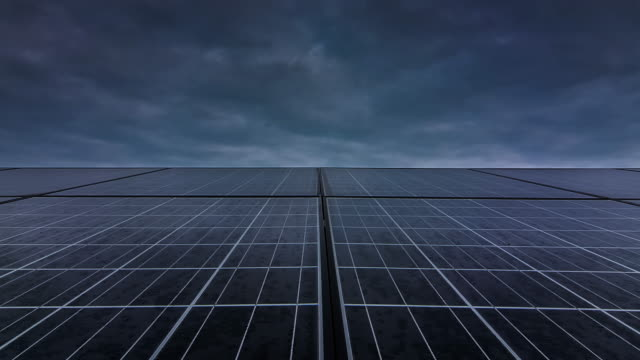 Time lapse of solar cell panel video