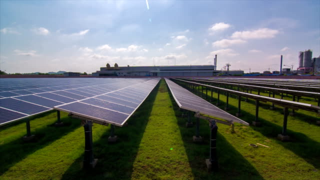 Time Lapse of Solar Farm in The Factory video
