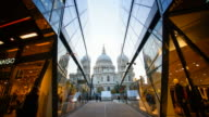 Time lapse of St Pauls Cathedral, London UK video