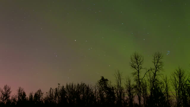 Time lapse of stars and Northern lights video