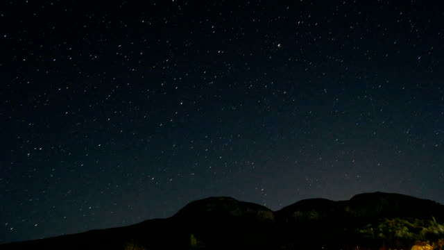 Time lapse of stars and the milk way video