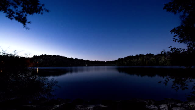 Time Lapse of Stars Reflected on Still Lake video