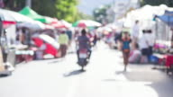 Time lapse of street market video