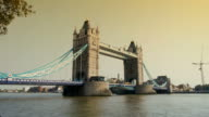 time lapse of sunset at tower bridge video