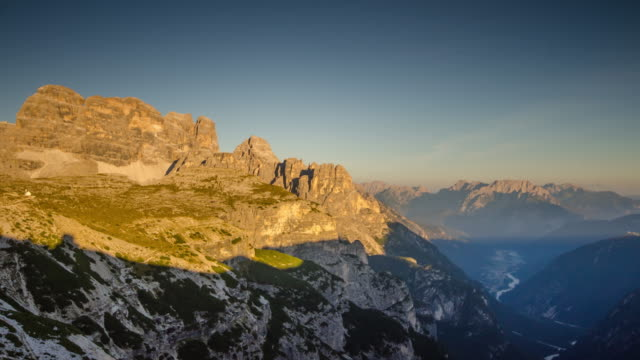 Time Lapse of sunset at Tre cime di lavaredo South tyrol , dolomites , Italy video
