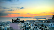 Time Lapse of Sunset in Piraeus video