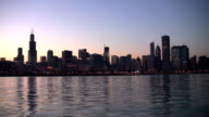Time Lapse of Sunset over Chicago video
