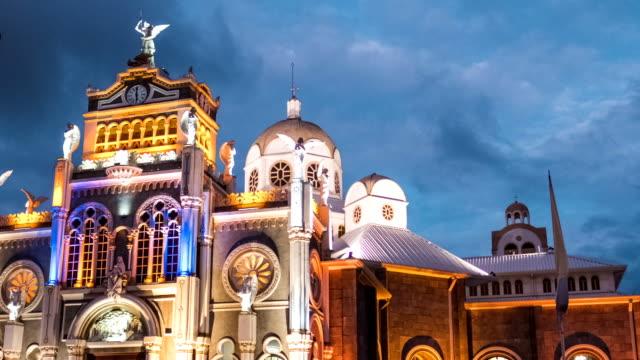 Time lapse of the Basilica de Nuestra Senora de los Angeles video