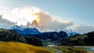 Time lapse of the evening clouds at Mount Fitz Roy video