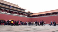 Time lapse of The Forbidden City in beijing, China video