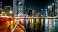 Time Lapse of the Marina area of Dubai video