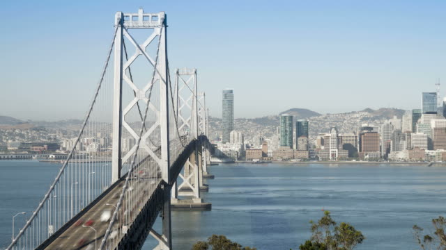 time lapse of the san francisco bay bridge and city skyline viewed from tre video