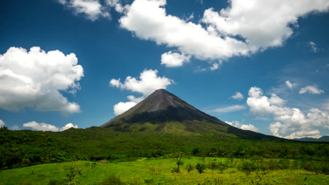 Time lapse of the volcano of Arenal video